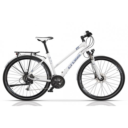 "Cross Amber Lady Trekking 28"" White/Blue"