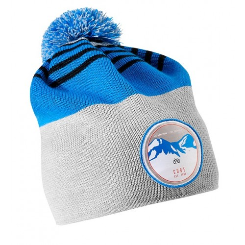 Cube Bobble Beanie - Blue 'n' Grey - 11062