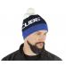 Cube Bobble  hat - Blue 'n' White - 11328