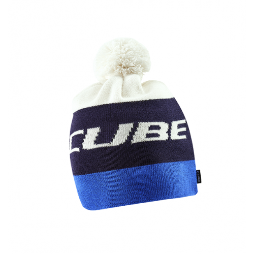 Cube Bobble  hat - Blue 'n' White - 11328