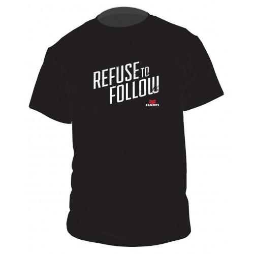 """Μπλούζα με κοντό μανίκι Haro """"REFUSE TO FOLLOW"""" - Black"""