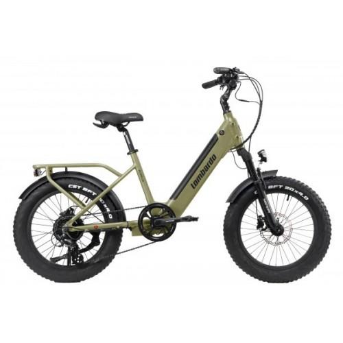 "Lombardo Aurelia Compact E-Bike 20"" Green Army Matt"