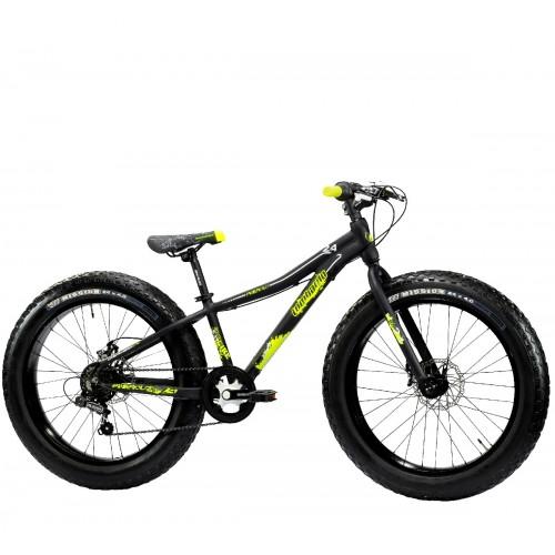"Lombardo Pinerolo 24"" Fat Bike Black Yellow Matt"