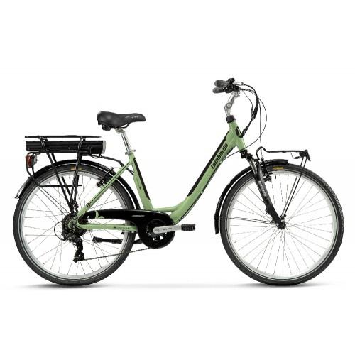 "Lombardo Levanzo Sport E-Bike 26"" Green Wood/Black Glossy"