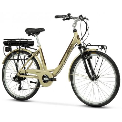 "Lombardo Levanzo Sport E-Bike 26"" Green Ivory/Brown Glossy"