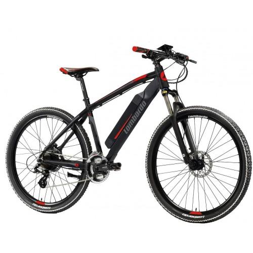 """Lombardo Valderice MTB E-Bike 27.5"""" Black-Grey Red"""
