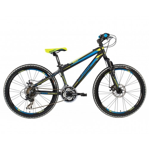 "Lombardo Mozia 24"" V-Brake Black-Blue-Green Mat"