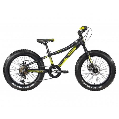 "Lombardo Pinerolo 20"" Fat Bike  Black - Yellow"