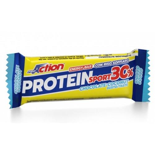 ProAction Protein Sport Bar 30% - Σοκολάτα - Καρύδα