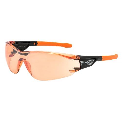 """Γυαλιά Ποδηλασίας R2 """"ALLIGATOR"""" - Μαύρο/Πορτοκαλί"""