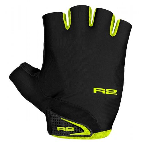 Γάντια R2 RILEY - Μαύρο/Fluo Κίτρινο