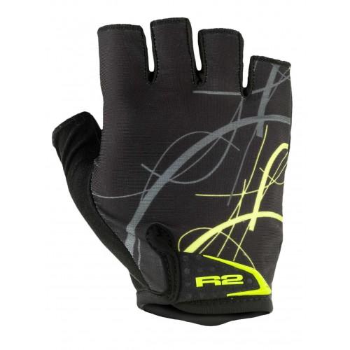 Γάντια R2 EASER - Μαύρο/Fluo Κίτρινο