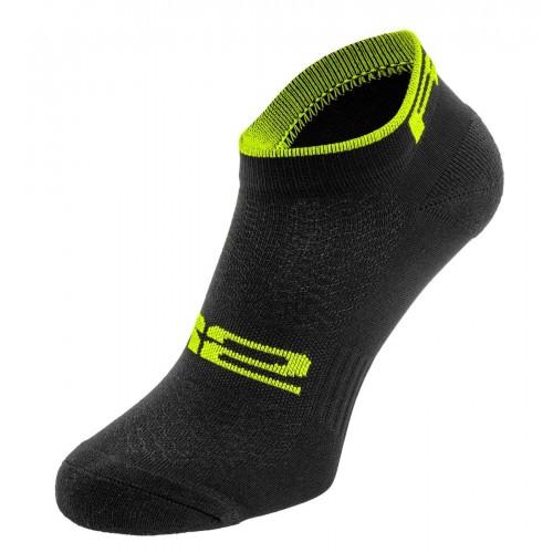 TOUR. R2 κάλτσες Μαύρες/Fluo Κίτρινες