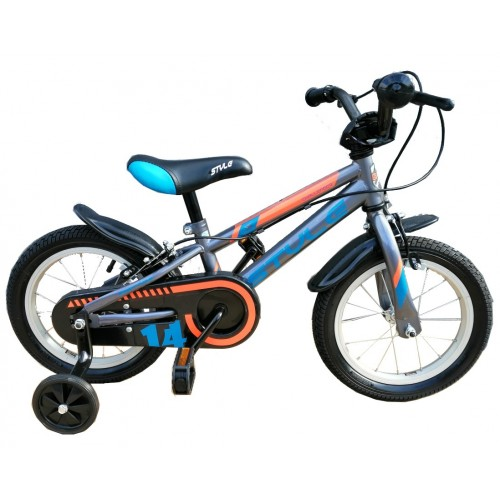 """Παιδικό ποδήλατο 12"""" Style Challenger ΙΙ - Ανθρακί 2020"""