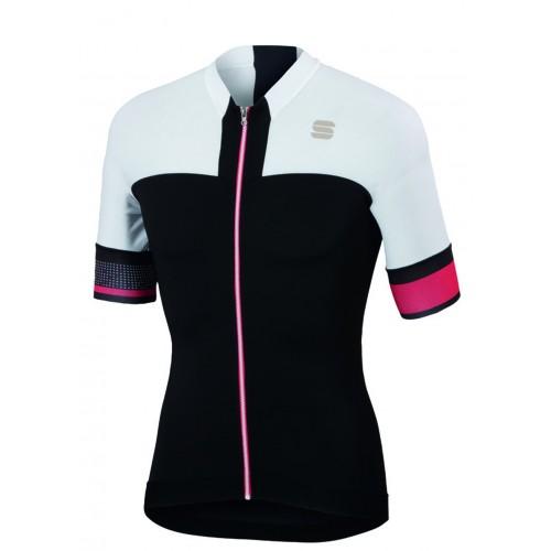 Μπλούζα με κοντό μανίκι Sportful STRIKE Jersey S/S - Black/White