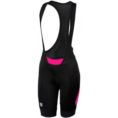 Κολλάν Γυναικείο με τιράντες κοντό Sportful NEO W - Black/Bubble Gum