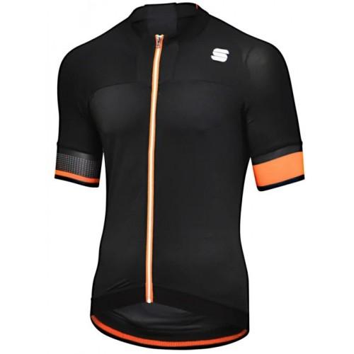 Μπλούζα με κοντό μανίκι Sportful STRIKE Jersey S/S - Black/Orange