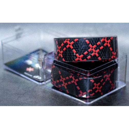 Ταινία τιμονιού κούρσας XON XBG-GR-01 Μαύρο/Κόκκινο